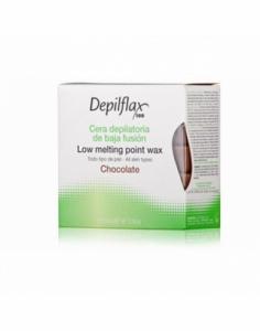 Depilflax   Горячий воск в брикетах Depilflax 100, шоколад, 500 гр